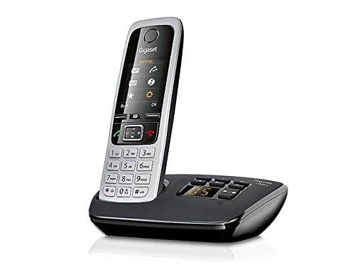 Gigaset C430A Duo Telefon - Schnurlostelefon / 2 Mobilteile - mit TFT-Farbdisplay / Dect-Telefon - mit Anrufbeantworter / Freisprechfunktion - Analog Telefon - Schwarz - 2