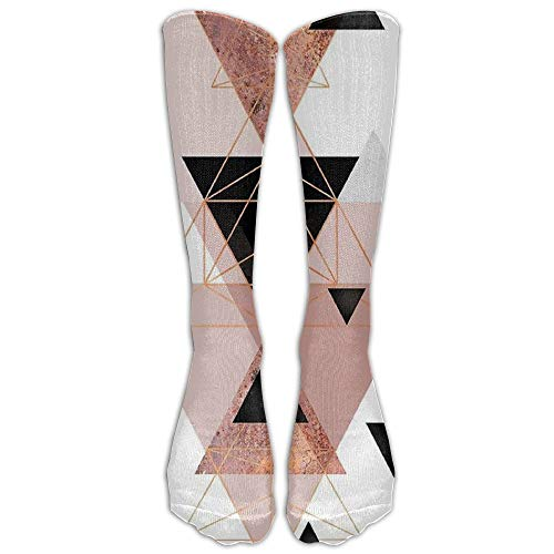 Personality Rose Gold Calf High Socks Casual Sports Socks (Open Toe Thigh High Socks)