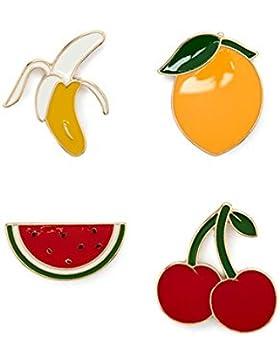 Kulinarische Gastfreundlichkeit Frucht-Emaille Revers Pin-Set