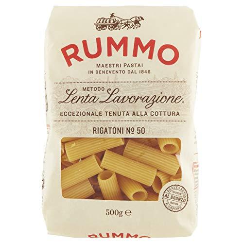 Rigatoni No.50 Pasta Lenta Lavorazione Rummo 500Gr