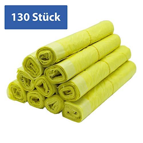 Variosan sacco giallo 11480, 130 pezzi, 10 rotoli in scatola, 90 l, 15 μ