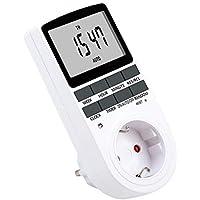 NICREW Temporizador Digital Programable con Pantalla LCD 12/24 Horas 7 Días Programador Diario /