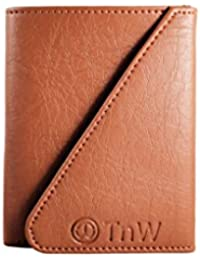 TnW Unisex Designer Card Holder Made In Genuine Leather Credit Card Case With Key Ring And Multiple Card Slots