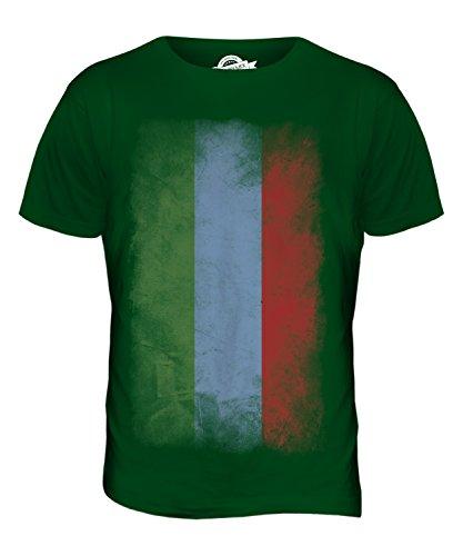 CandyMix Dagestan Verblichen Flagge Herren T Shirt Flaschengrün