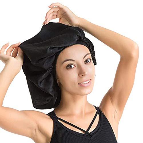 Sunnyushine Stücke Satin Bonnet Nacht Schlaf Mütze Schlaf Kopf Abdeckung für Damen Mädchen Schlafen für Haarpflege Kopfbedeckung-45cm Satin Hair Wrap