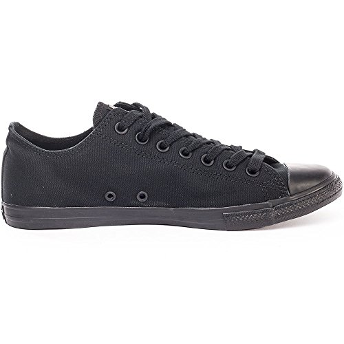 Femmes Converse All Star Lean Ox Chuck Taylor Lacer Formateurs Black Black