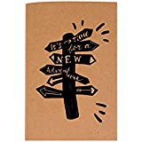 The Crazy Me It's Time For A New Adventure Brown Soft Bound A5 Diary - B0767J9YHT