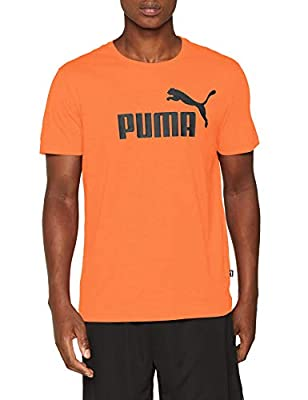 Puma Herren ESS Tee T-Shirt Firecracker Heather L