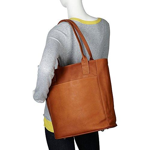 Piel Leather XL Notebook-Tasche in Sattelbraun, Einheitsgröße Sattelbraun