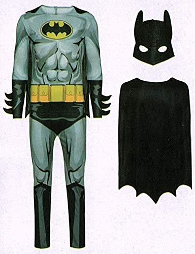 Batman grau Fledermaus Kostüm für Fasching & Karneval - Superheld Größe L (52/54) (Batman Grau Kostüm)