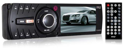 Pyle PL3MP4 - Radio para coches con pantalla LCD de 3' (USB, mando a distancia, 3.5 mm), negr