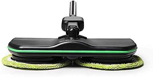 Elektronische Wireless-Mop, Powered wiederaufladbare 3 in 1 Akku-Spin Bodenreiniger für alle Oberflächen - Bodenreiniger Scrubber Polierer Mop mit 2 Mikrofaser-Pads und 2 Polierer Pads für den,Schwarz