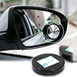 #2: Carex Universal Rear View Round Blind Spot Mirror -360 Degree Adjustable Wide Angle