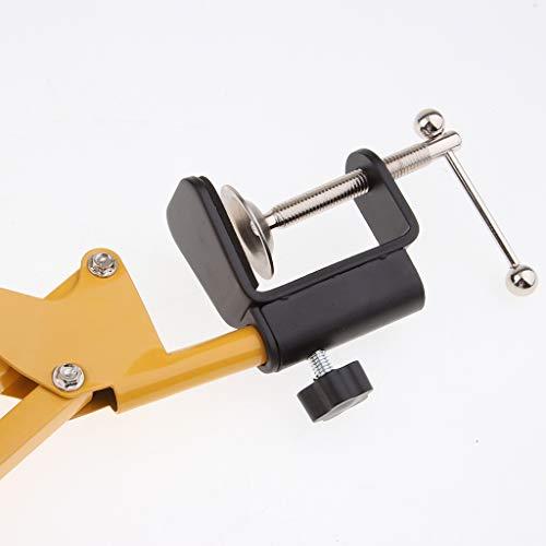 gazechimp Mikrofon Mic Suspension Boom Scissor Arm Stand, Erweitert Bis Zu 80 Cm Für Broadcasting Studio - Gelb - Scissor Mic Stand Arm