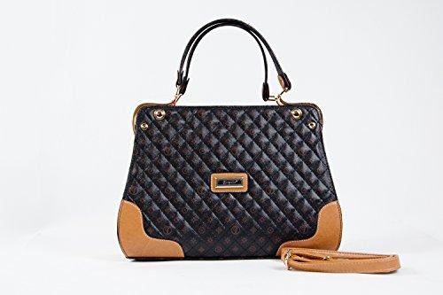 Tasche Umhängetasche Damentasche Handtasche Taymir 2 Jahre Garantie NEU Angebot! Schwarz-Beige