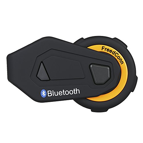 FreedConn T-Max 1500M Interphone Cuffie interfoniche Blutooth Interfono Moto Auricolare Blutooth con FM Interphone Cuffie interfoniche Blutooth 6 Motociclisti Casco Moto Auricolare interfono Wireless