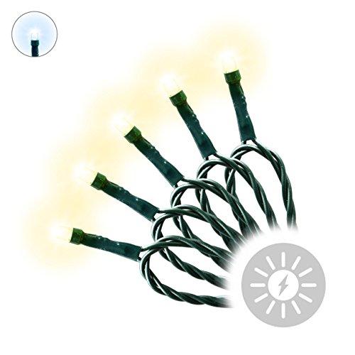 Lichterkette Solar 24 LED warm weiß Solarlampe Solarleuchte Solarlichterkette Gartenbeleuchtung