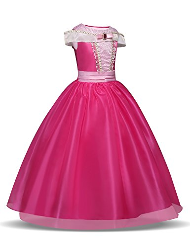 QSEFT Kinder Mädchen Halloween Kleider Cinderella Schneewittchen Cosplay Kostüm Baby Mädchen Prinzessin Kleid Aurora Belle Kleid 1-7 Jahre (2 Jahre Alt Weihnachtskostüme)
