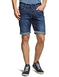SELECTED HOMME Herren Jeans Short Normaler Bund 16030941 Cash 919 Denim Shorts