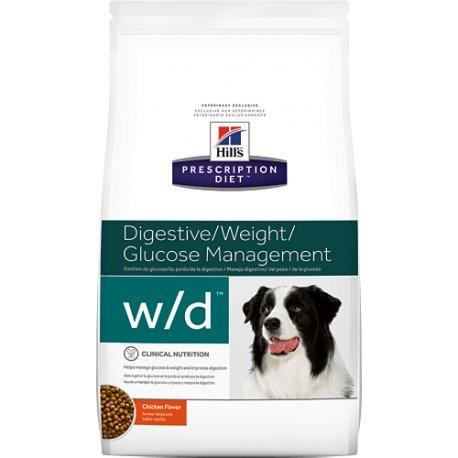 prescription diet w/d canine low fat mangime secco gusto pollo kg.1,5