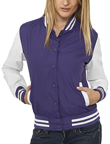 Urban Classic Ladies Light College Jacket, Giacca Donna, Viola (Violett), Medium