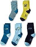 Schiesser 5pack Kids Socken Jungs Chaussettes, Multicolore (Sortiert 1 901), 31-34 (Taille Fabricant: 456) (Lot de 5) Garçon