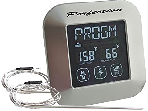 In-Oven In-BBQ Grill and Smoker Digital Meat Thermometer-Kitchen Timer-Instant Read Meat Thermometer With Oven Probe-Touchscreen Kitchen Cooking Thermometer- Perfect for In-Oven Roasts and Meat