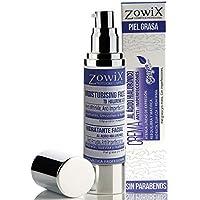 Zowix Crema Intensiva Antiarrugas para pieles MUY grasas | Acido Hialuronico | SOLO Principios Activos Vegetales.
