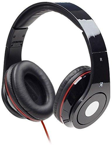 Nero Cuffie stereo con Microfono / Pieghevole Cuffie e Microfono / Per PC, Computer, Notebook, Tablet, iPhone, Samsung / iCHOOSE