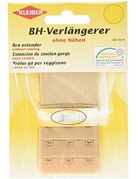 Kleiber Alargador de sujetador con cierre de tres corchetes, 40 mm, color Color beige/piel