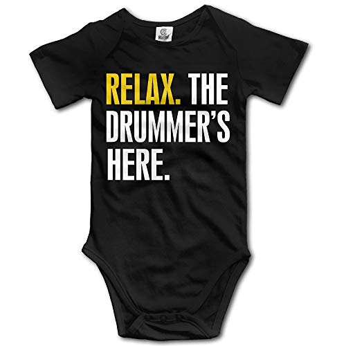CrownLiny Relax. The Drummers Here Infant Unisex Baby Clothes Bodysuit In 4 Sizes Champion Infant Bodysuit