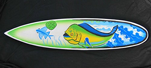Pescado-Surf-100-cm-Decoracin-con-peces-diseo-Mare-Mar-Tabla-de-Surf-Oro-Caballa