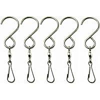 sunreek ™ 5PCS/10PCS Glatte Spinning Windspielen Haken Clips für Aufhängen Drehen Spirale Schwanz Kristall Twistern Party Supply