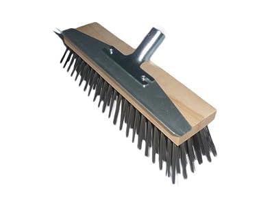 Drahtbesen 30 cm mit Schabekante und robustem Metallhalter