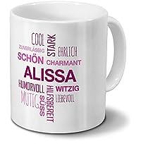 Tasse mit Namen Alisa Motiv Verrücktes Einhorn