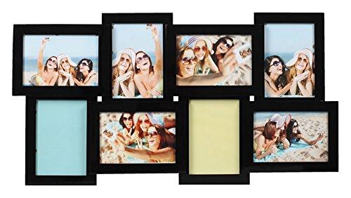 Ideal Style Holz Bilderrahmen Galerierahmen Fotorahmen Foto Collage Galerie: Format: 8x10x15 cm Schwarz - Bilderrahmen, 10x8