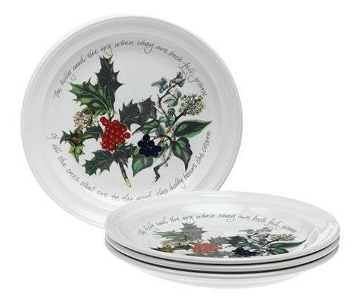 The Holly & Ivy Teller, Keramik, Mehrfarbig, 21.5 x 21.5 x 3 cm, 6 -