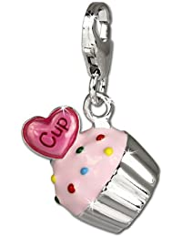SilberDream exclusive Charms - Charm Cupcake en argent pour charms colliers et bracelets - Argent 925 Sterling - FC679