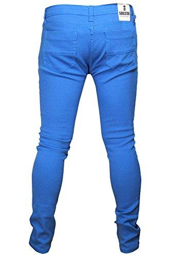 Soulstar MP Deo Homme Design coloré Jeans Coupe Skinny Turquoise/bleu clair
