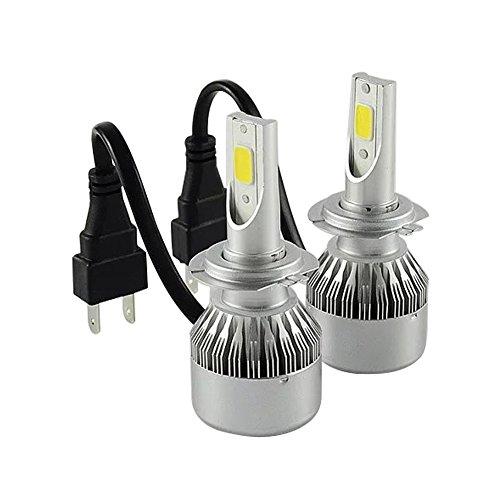 TXVSO8 H7 LED Headlight Bulbs Conversion Kits for Car Halogen HID Xenon 110W 9200LM 6000K White Lamps, 55W/Bulb, COB Chips, 2 Yr Warranty