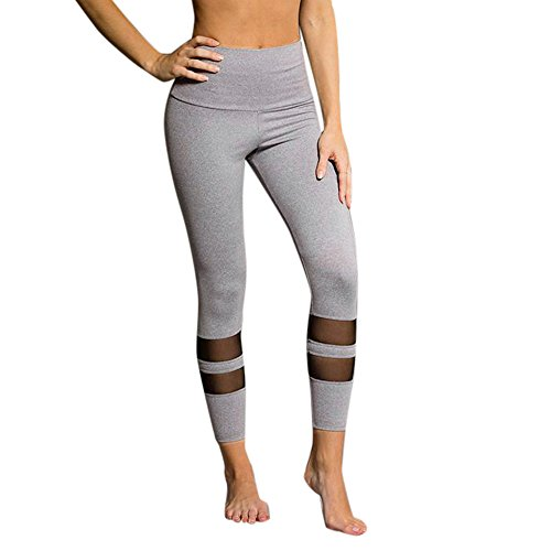 JUTOO Neue Womens Hohe Taille Sport Gym Yoga Laufen Fitness Leggings Hosen Workout Hosen ()