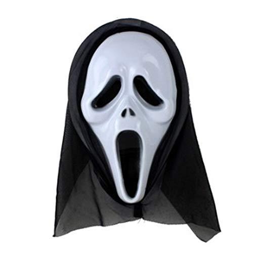 Aisoway Halloween-Maske Scary Kostüm-Schablonen-Schrei Schädel-Geist-Fälschungs-Gesichtsmasken Für Erwachsene Maske Und - Geist Halloween Scary Kostüm