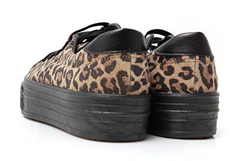 Ripness Badbrick Badbrick Shoes Leopardate-Basket Leopard Marron - Marron