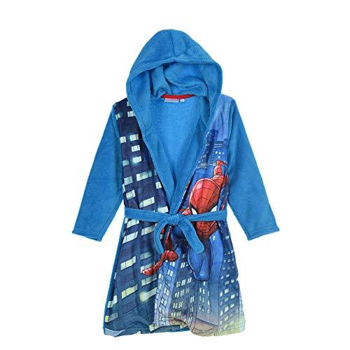 Spiderman Marvel - Sudadera con Capucha y Forro Polar para niños, diseño de héroe Nocturno Azul Azul...