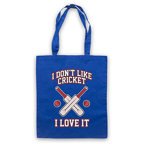 I Don't Like Cricket I Love It Umhangetaschen Blau