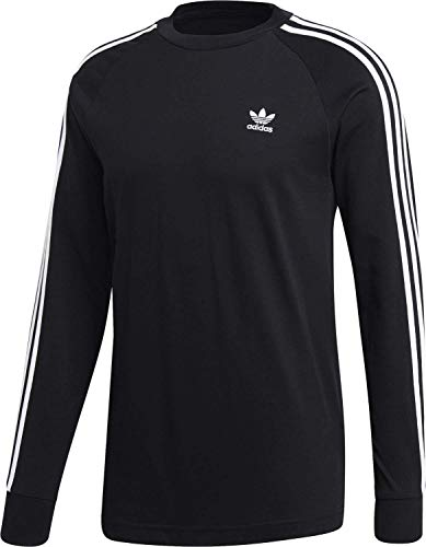 Adidas 3-stripes longsleeve t-shirt, maglietta uomo, nero, s
