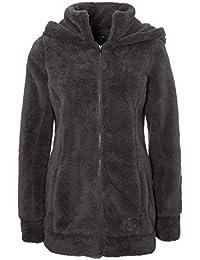 SUBLEVEL Damen Teddy-Fleece Mantel   Kuscheliger Langer Fleecemantel mit hohem Kragen