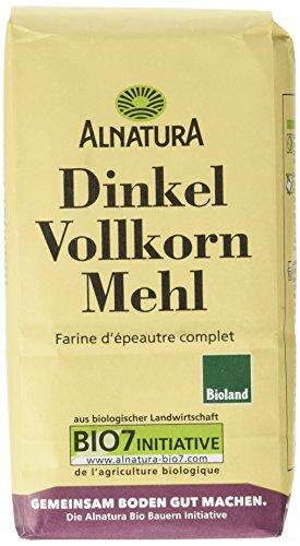Alnatura Bio Dinkelvollkornmehl, 6er Pack (6 x 1 kg)