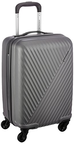 American Tourister Skyrock ABS 55 cms Dark Grey Hardsided Cabin Luggage (AMT SKYROCK SP 55 cm Dark Grey)