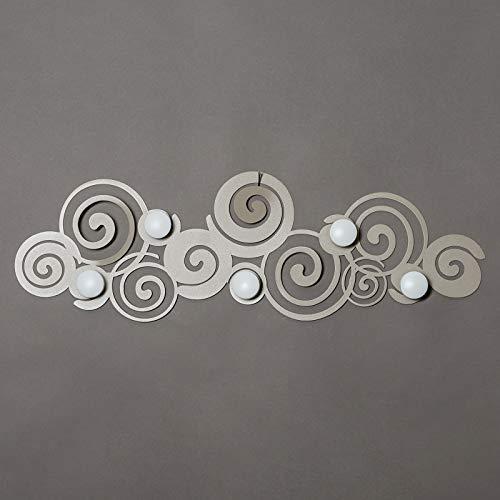 Appendiabiti da parete orfeo sabbia arti e mestieri per ingresso design moderno